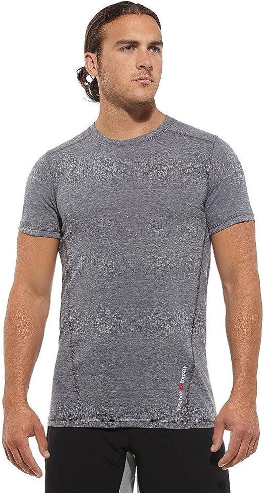 Reebok - Camiseta Deportiva - para Hombre Gris Gris Small: Amazon.es: Ropa y accesorios