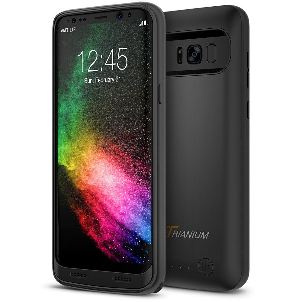 Galaxy S8 Battery Case, Trianium Atomic Pro s8 Charging Battery Pack for Samsung Galaxy S8 5.8-inch Phone - 4500mAh Extended Battery Fast Charger [Quick Charge Pass-Thru] Protective Case Power Pack by Trianium (Image #8)