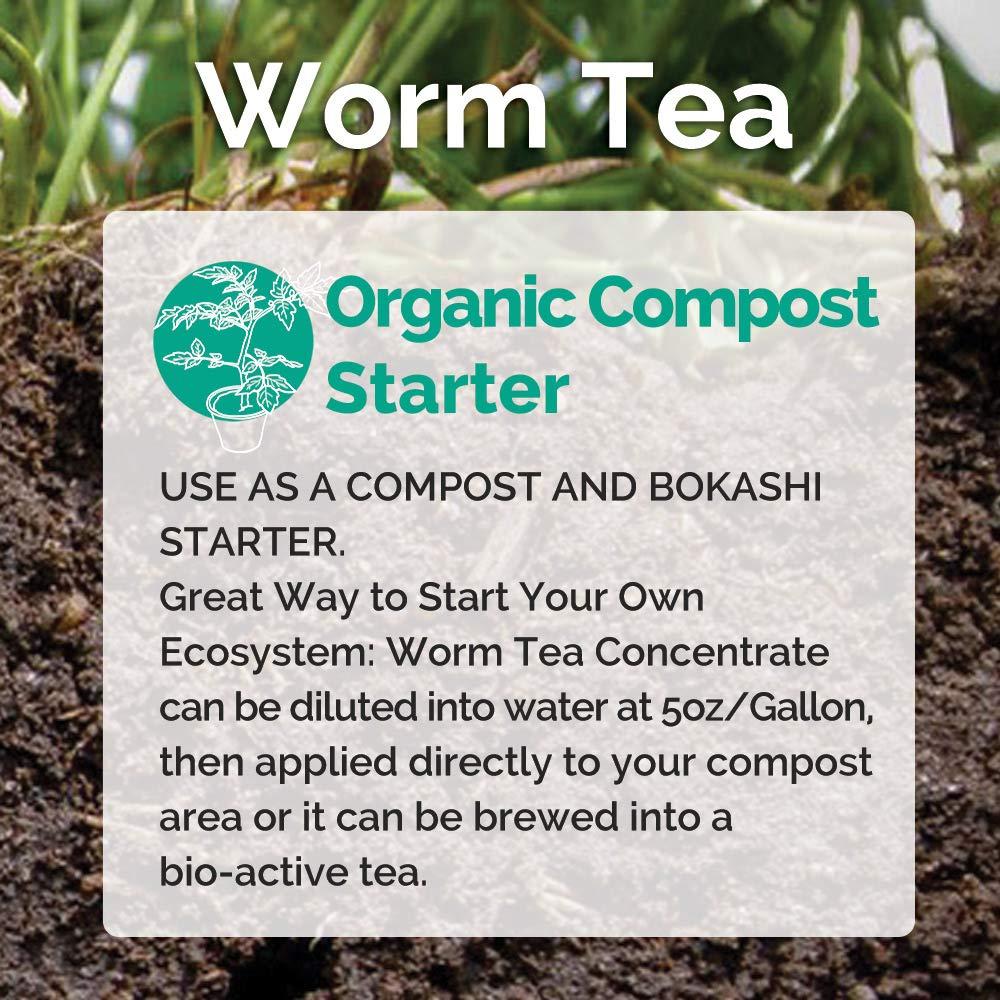 Amazon.com: Concentrado de té de lombriz de tierra orgánica ...