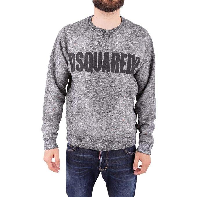 Dsquared2 felpa uomo originale grigio EU XL (UK XL) S74GU0275S25385900M   Amazon.it  Abbigliamento c2af343a3d91