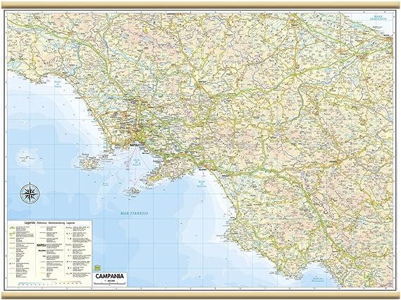 Cartina Campania Grande.Campania Carta Regionale Murale 85x64 Cm Belletti Amazon It Cancelleria E Prodotti Per Ufficio