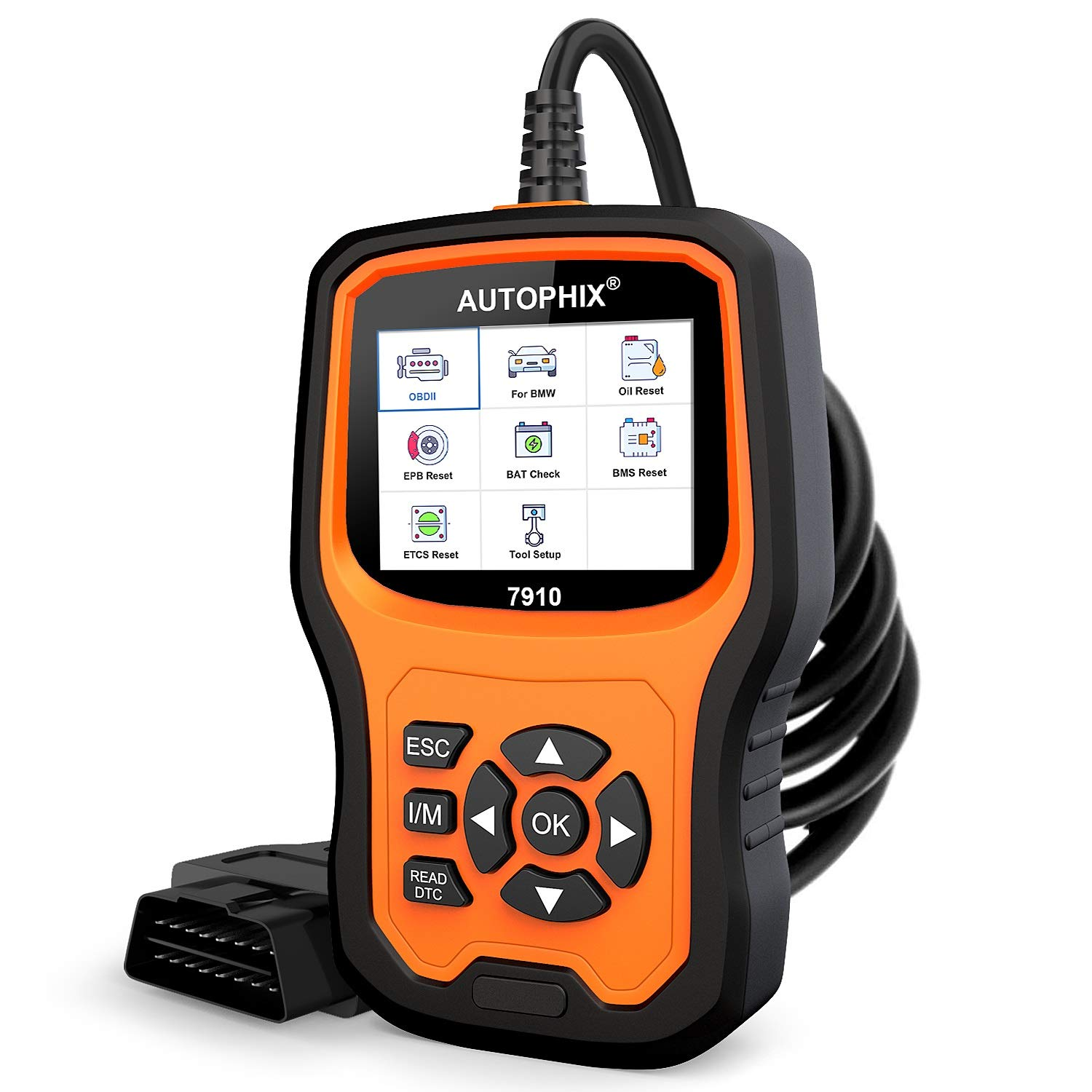 AUTOPHIX Car Diagnostic Scanner Tool for BMW Mini, 7910 OBD2 Readr  Multi-System Auto Fault Code Reader with
