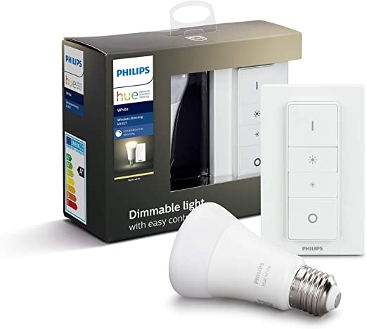 Philips Hue Hue White Pack de 2 Bombillas LED E27, 9 W ...