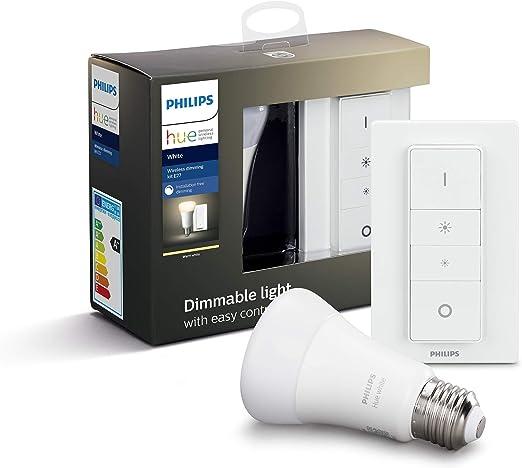 Philips Hue Hue White Pack de 2 Bombillas LED E27, 9 W ...