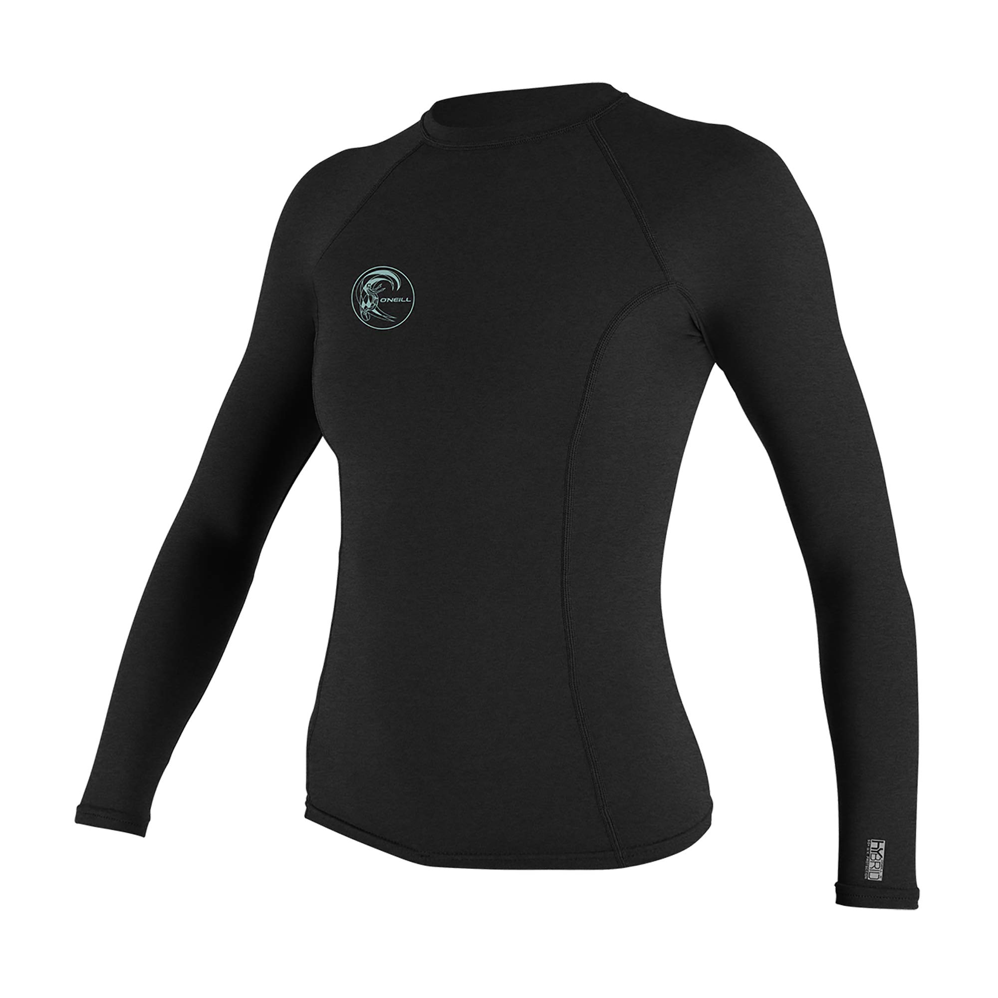 O'Neill Wetsuits Women's Hybrid UPF 50+ Long Sleeve Rash Guard, Black, Medium by O'Neill Wetsuits