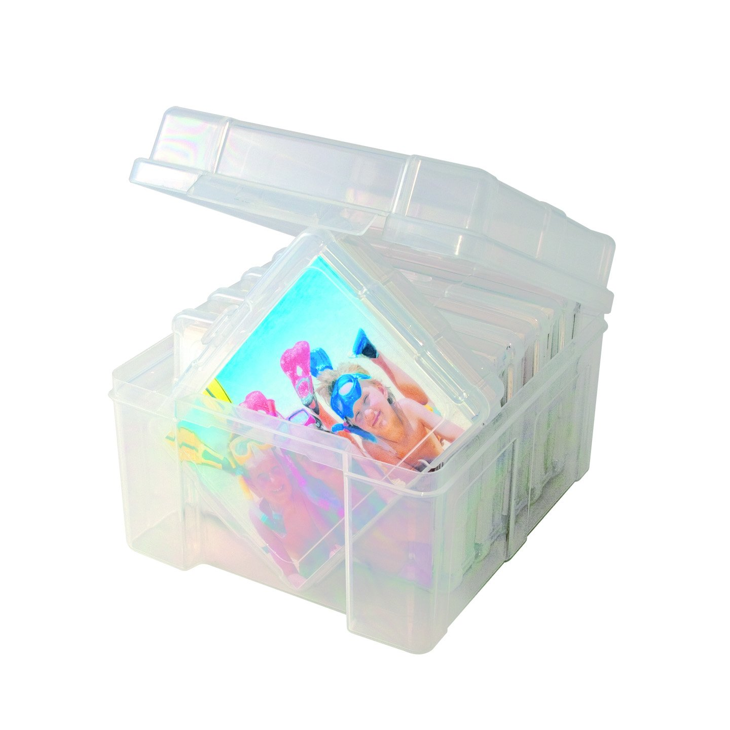 Advantus Photo Keeper Box with 6 Individual Clear Photo Cases, Holds up to 600 Photos, Embellishment and Craft Storage Containers, 61989 Advantus Corp.- Office