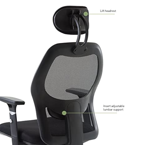 chair inserts for back support. amazon.com : wahson reclining home office chair adjustable arms headrest seat lumbar support mesh high back task products inserts for