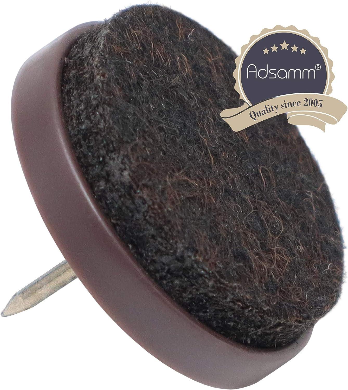 rotondo 16/X feltrini con chiodo Marrone /Ø 20/mm feltrini con perno in qualit/à premium di adsamm/®