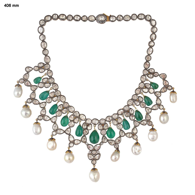 Amazon Com Costozon Uncut Diamond Necklace Sets 58 3 Tcw