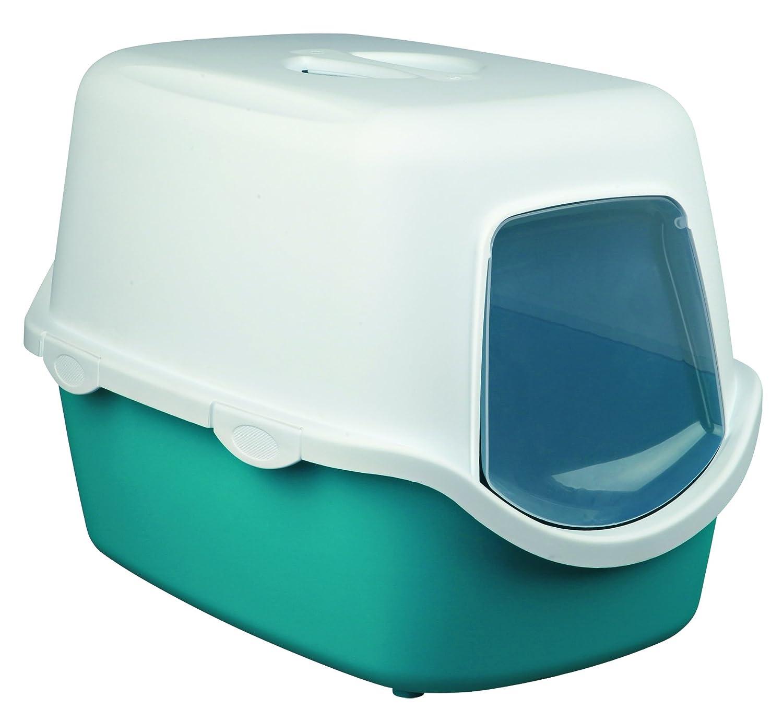 Trixie Vico Bac à litière pour chat Turquoise/blanc 4011905402758