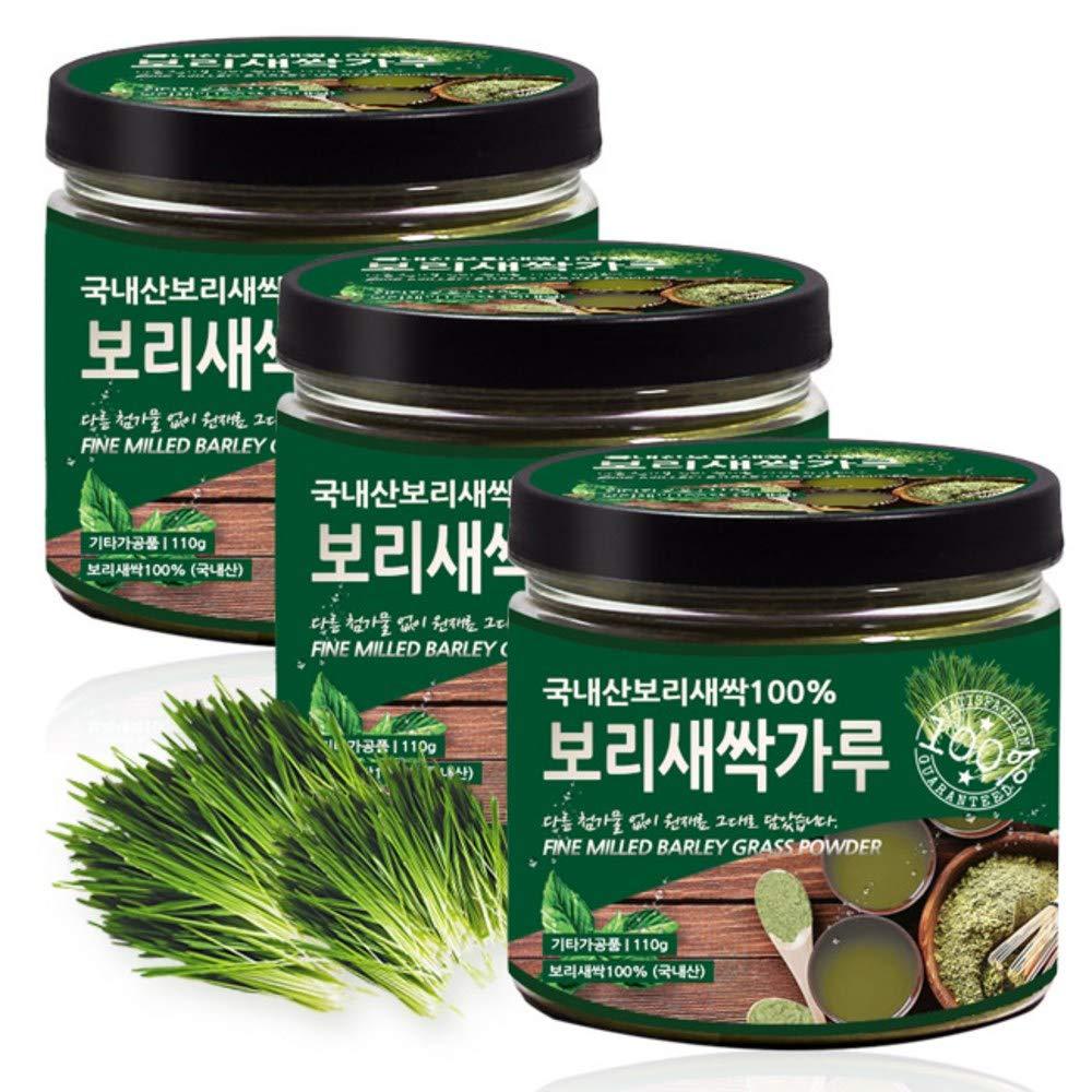 Fine Milled Barley Grass Powder 100g(pack of 3), Product of Korea 새싹 보리 by Pureundeulpan