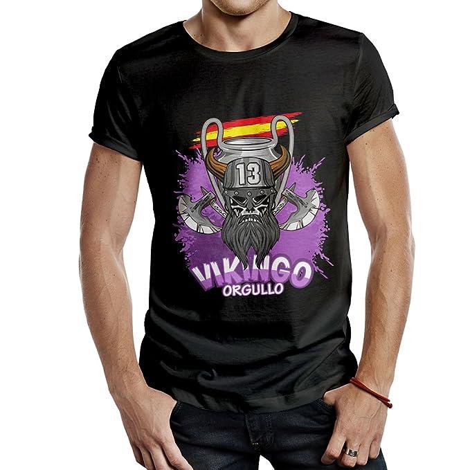 Camiseta R. Madrid CAMPEÓN DECIMOTERCERA Orgullo Vikingo ESPAÑA (S)