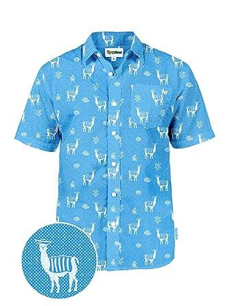 Amazon Com Men S Bright Cactus Hawaiian Shirt For Spring Break And