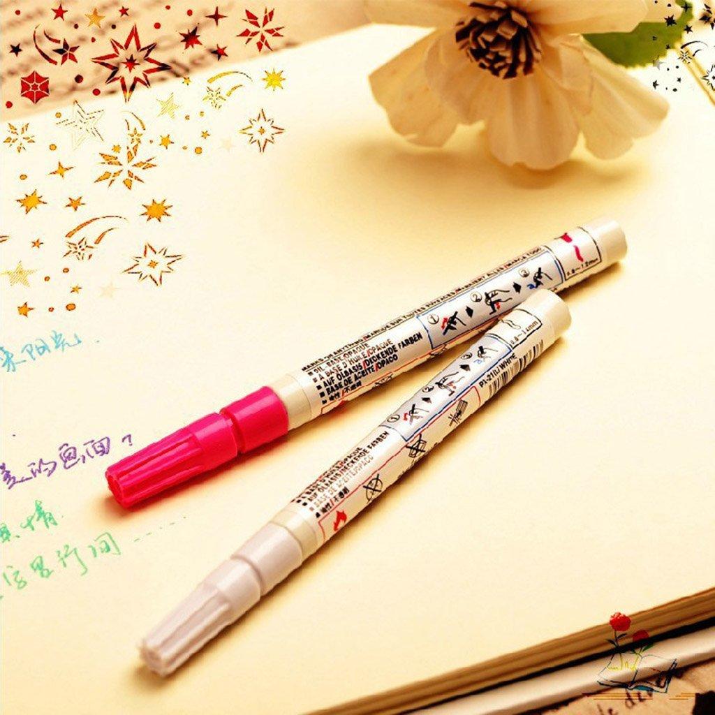 Yellow Runrain Paint Marker Pens Fein Tipps Wasserdicht Kunst Permanent /Öl basierte DIY Craft Decor