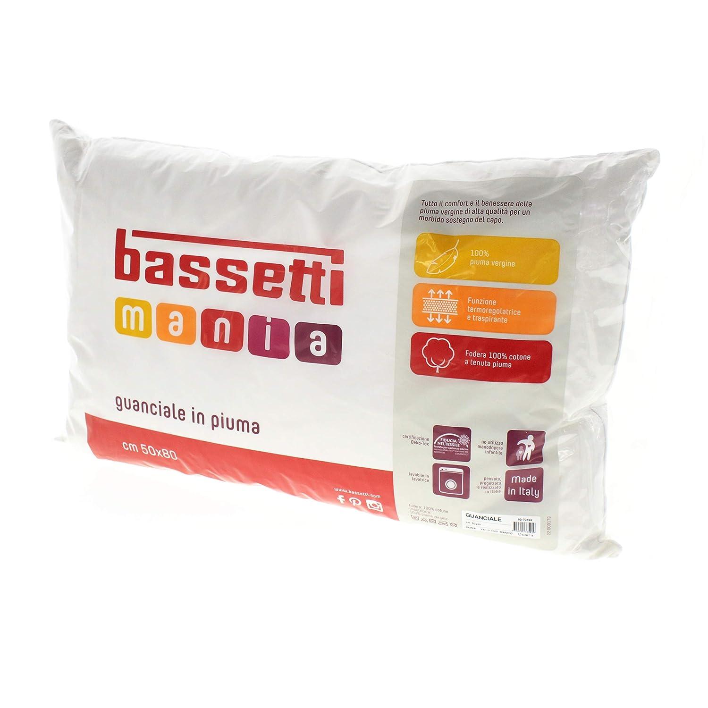 Cuscini Bassetti.Bassetti Guanciale 100 Vera Piuma Cuscino Made In Italy Puro