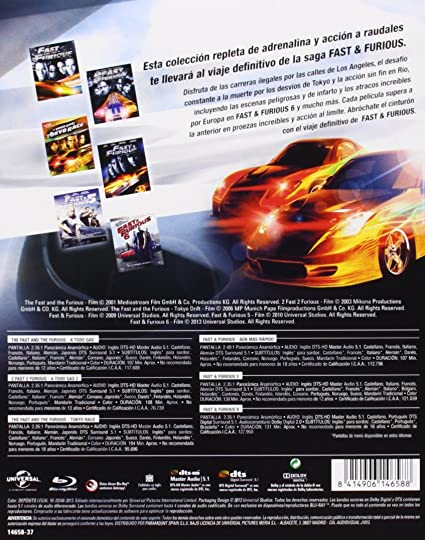 Pack: Fast And Furious (1-6) [Blu-ray]: Amazon.es: Vin Diesel ...