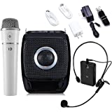 Winbridge S92 25 Watts Mini Portable Rechargeable Voice Amplifier Pa System Speaker with UHF Compact Handheld Wireless Microphone Headset for Karaoke, Teachers, Tour Guides, Trainers