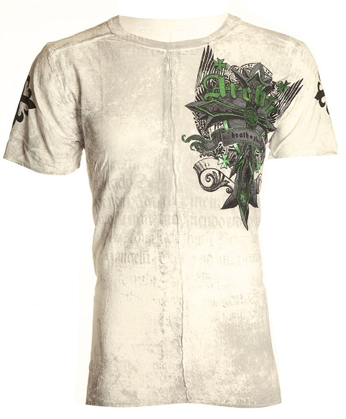 Amazon.com: Affliction Archaic Mens T-Shirt Lustrous Skulls Wings Tattoo Biker UFC: Clothing