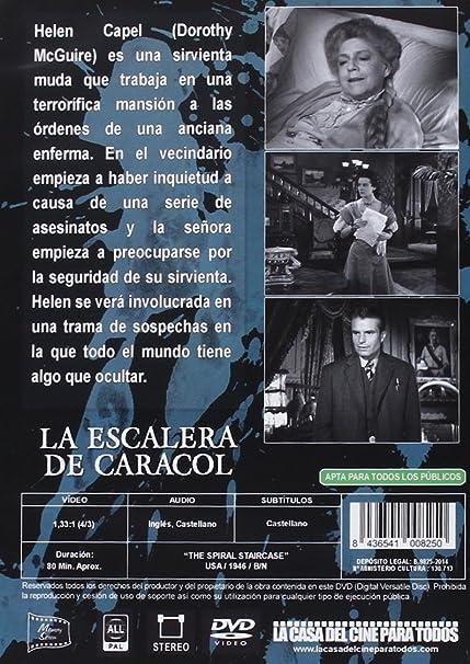 La Escalera De Caracol [DVD]: Amazon.es: Dorothy McGuire, George Brent, Ethel Barrymore, Robert Siodmak, Dorothy McGuire, George Brent: Cine y Series TV