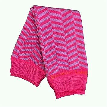 Bambino Land Leg Warmers Herringbone Chevron Pink /& Purple