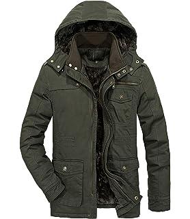 Amazon.com: RongYue - Chaqueta militar de invierno para ...