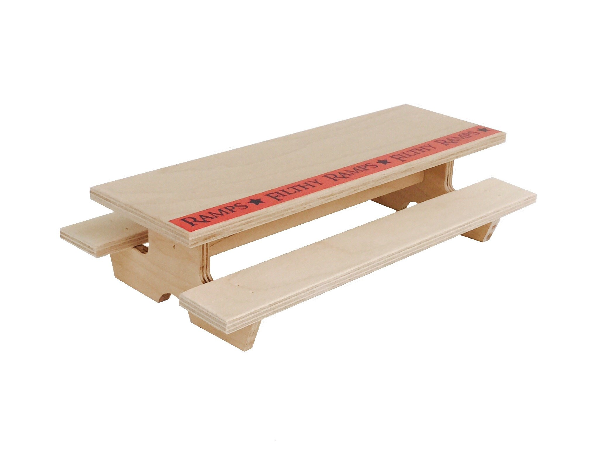 Filthy Picnic Table for Fingerboarding By Filthy Ramps, for fingerboards and tech decks