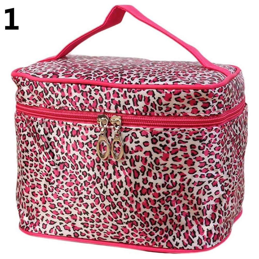 2192c6340175 Amazon.com : gainvictorlf Cosmetic Bag Leopard Print Women Travel ...
