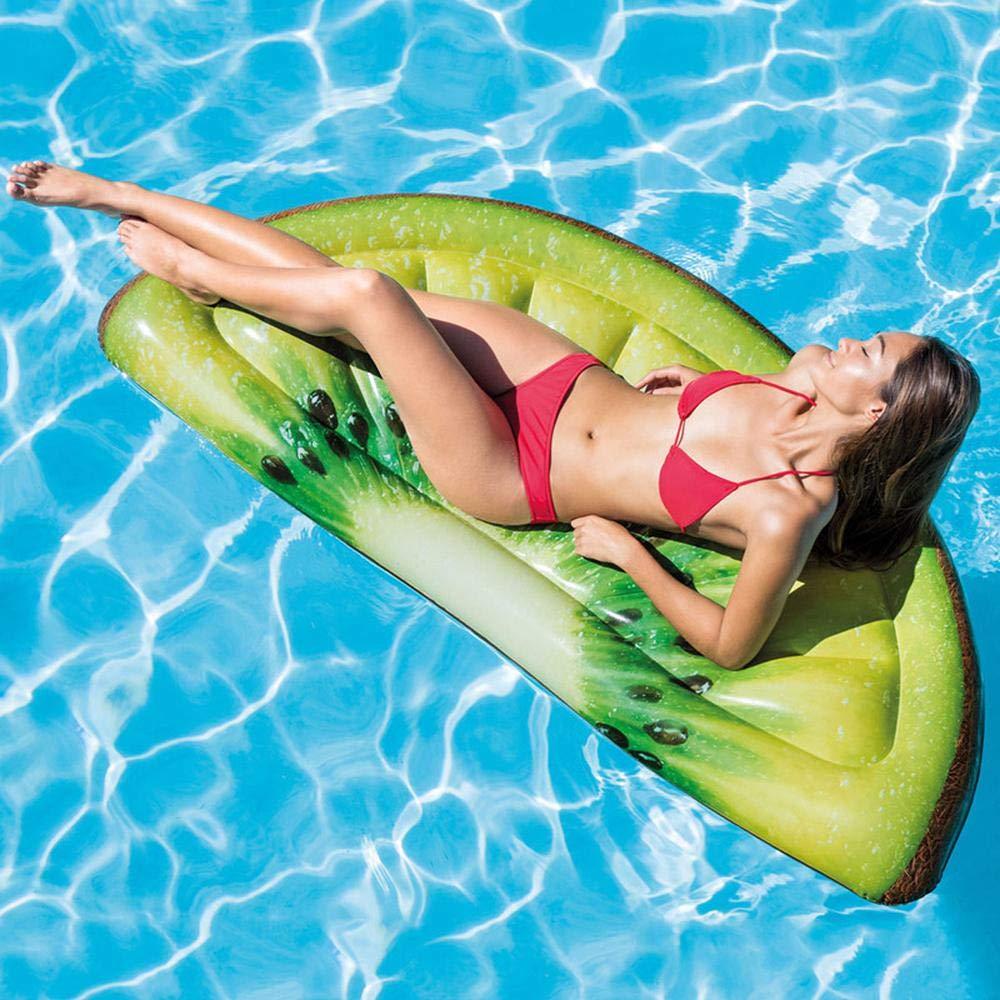 80% de descuento A Simulación de una fila flotante de kiwi kiwi kiwi Juguetes inflables, una cama flotante realista de kiwi. Anillo de natación de fruta real Juguetes de agua - 178cmX85cm  conveniente