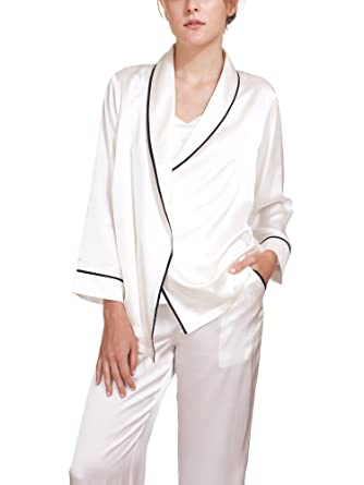 36d436750afb MYK SILK - Womens Classic Silk Pajamas Set