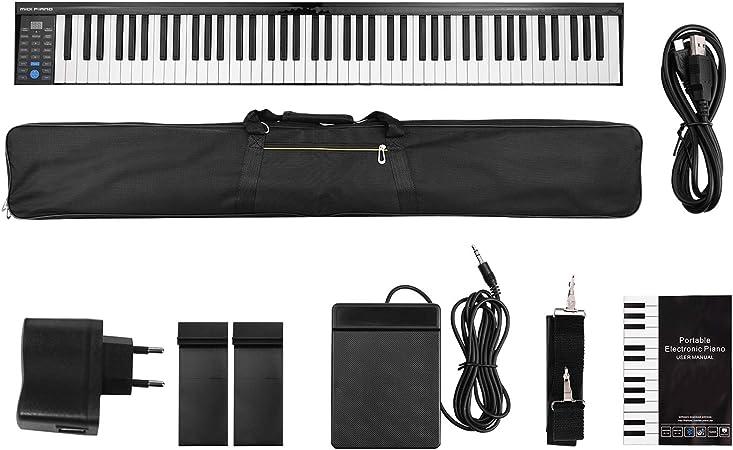Muslady Teclado de Piano Electrónico Digital MIDI 88 llaves ...