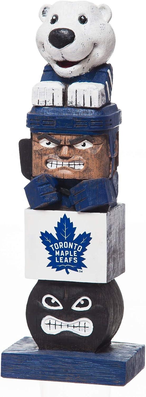 "Rico Industries, Inc. Toronto Maple Leafs Tiki Totem Pole 16"" Outdoor Resin Home Garden Statue Decoration Hockey"
