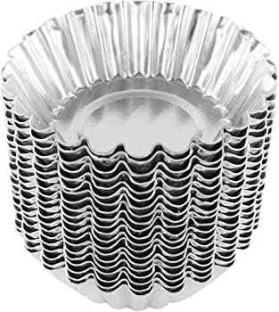 Bezall 20 Packs 1.97 x 2.75 x 0.94 Inches Aluminum Tart Pan
