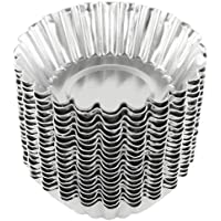 (20, Silver) - Dealglad 20pcs Egg Tart Aluminium Cupcake Cake Cookie Mould Lined Mould Tin Baking Tool