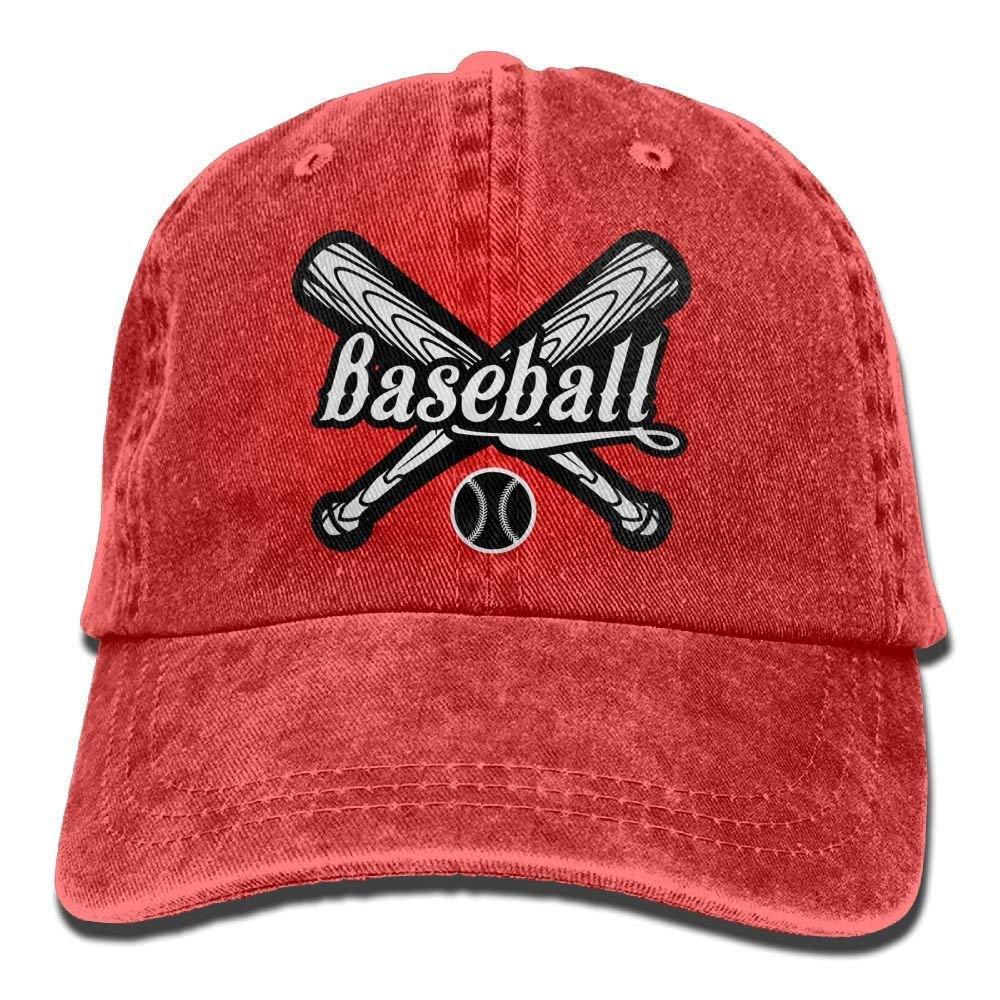 JTRVW Baseball and Baseball Bats Denim Hat Womens Great Baseball Hat