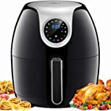 Tidylife Air Fryer, 6.3 QT Air Fryer XL with LCD Digital Touchscreen, 1700W Electric Hot Air Fryer with 8 Cooking Preset, 180-400℉ Fast Oilless Cooking, Auto Shut Off, Include Recipes