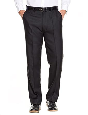 Herren Qualität Formal Smart Casual Arbeitshose Home/Office Schwarz Taille  81cm x Beinlänge 69cm