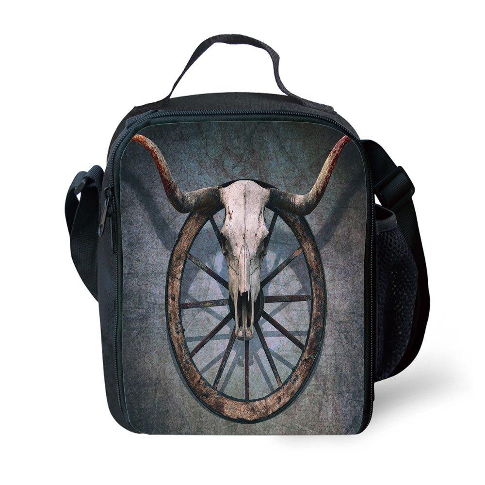 IPrint School Supplies - Rueda de madera para barniz, diseño de corazón con calavera en forma de toro, rueda de carrito con rayas, multicolor para niñas o ...