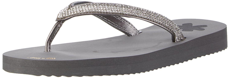 flip*flop Damen Flipglam Zehentrenner  36 EU|Grau (Steel)