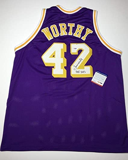 19272f3b1bf James Worthy Autographed Signed Memorabilia Los Angeles Lakers Basketball  Jersey Hof 2003 PSA DNA Y10189 at Amazon s Sports Collectibles Store