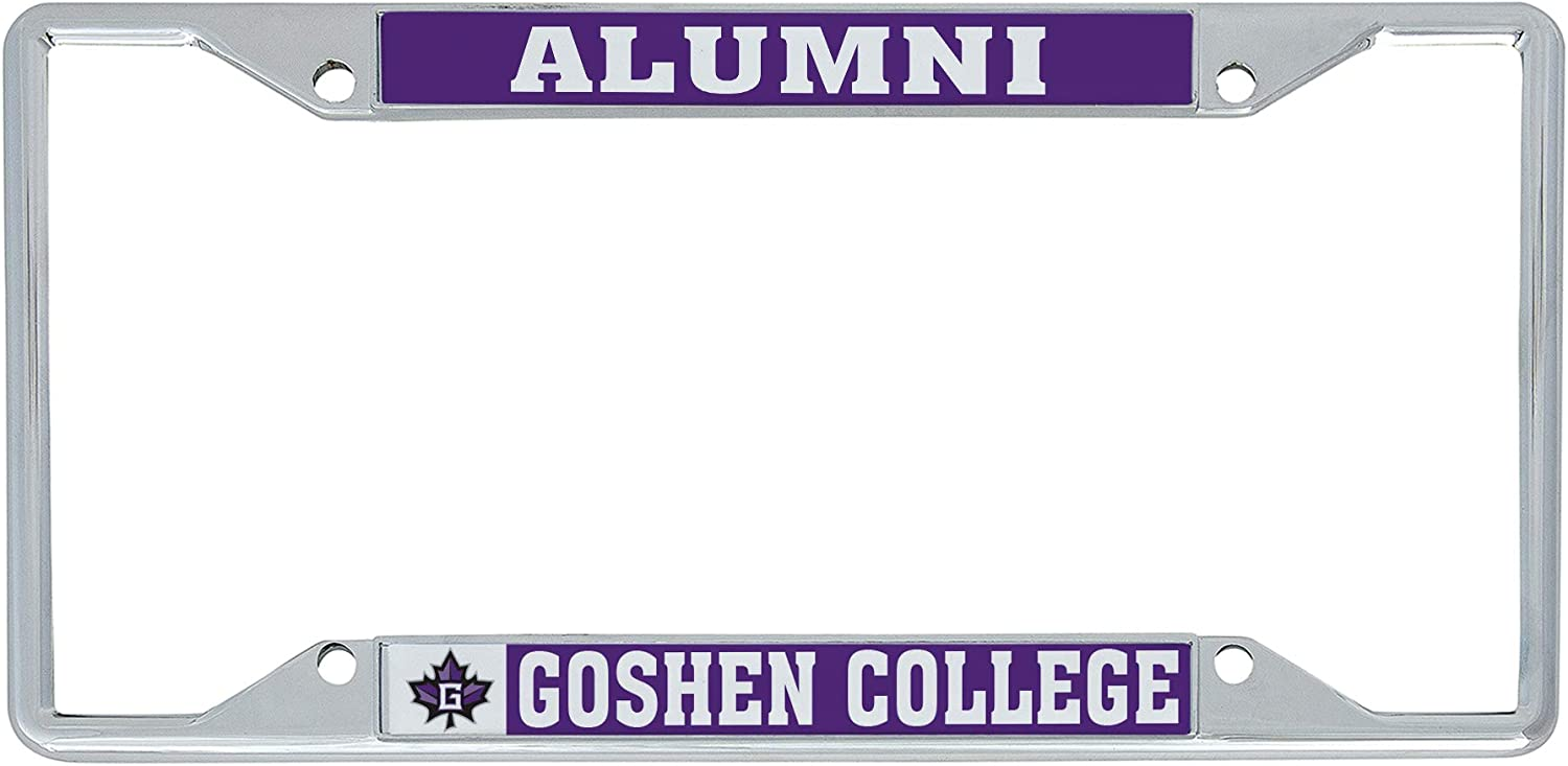 Alumni Desert Cactus Goshen College Maple Leafs NCAA Metal License Plate Frame for Front or Back of Car Officially Licensed