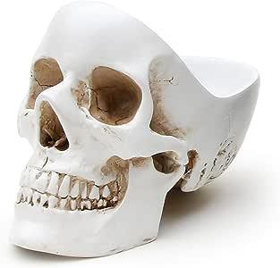 Suck UK Skull Tidy Decorative Bowl, 9 x 7 x 6 inch, White