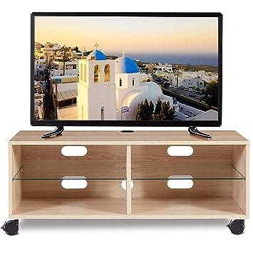 RFIVER Mobiletti per Soggiorno con Ruote Mobile Tavolino TV ...