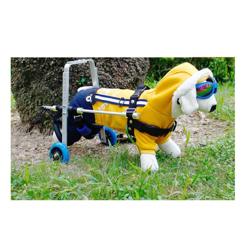 WmyCW Silla de Ruedas para Perros pequeña, Ultraligera, para discapacitados, Pata Trasera, Silla de Ruedas Auxiliar para Mascotas: Amazon.es: Productos para ...
