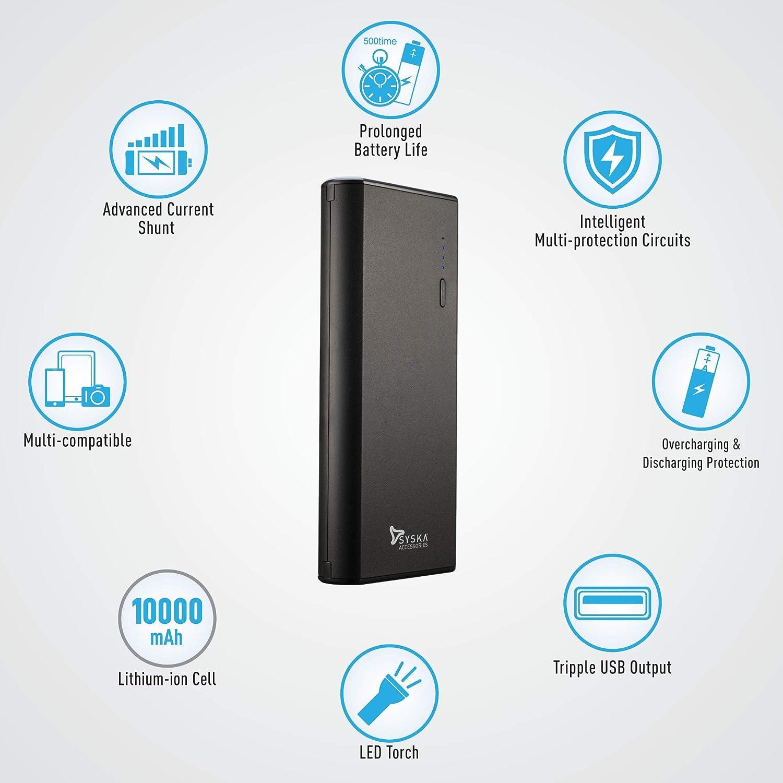 Syska 10000 mAh Power Bank - Gadgets under Rs 500