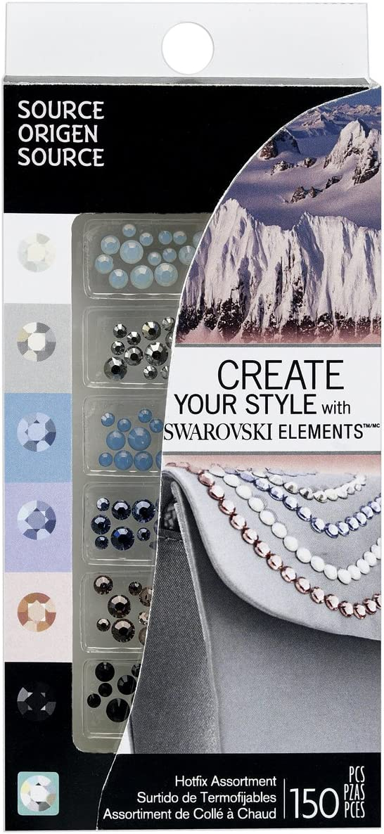 Swarovski HotFix Crystals 150 Piece Combo Pack, Elements Assortment by  Create Your Style