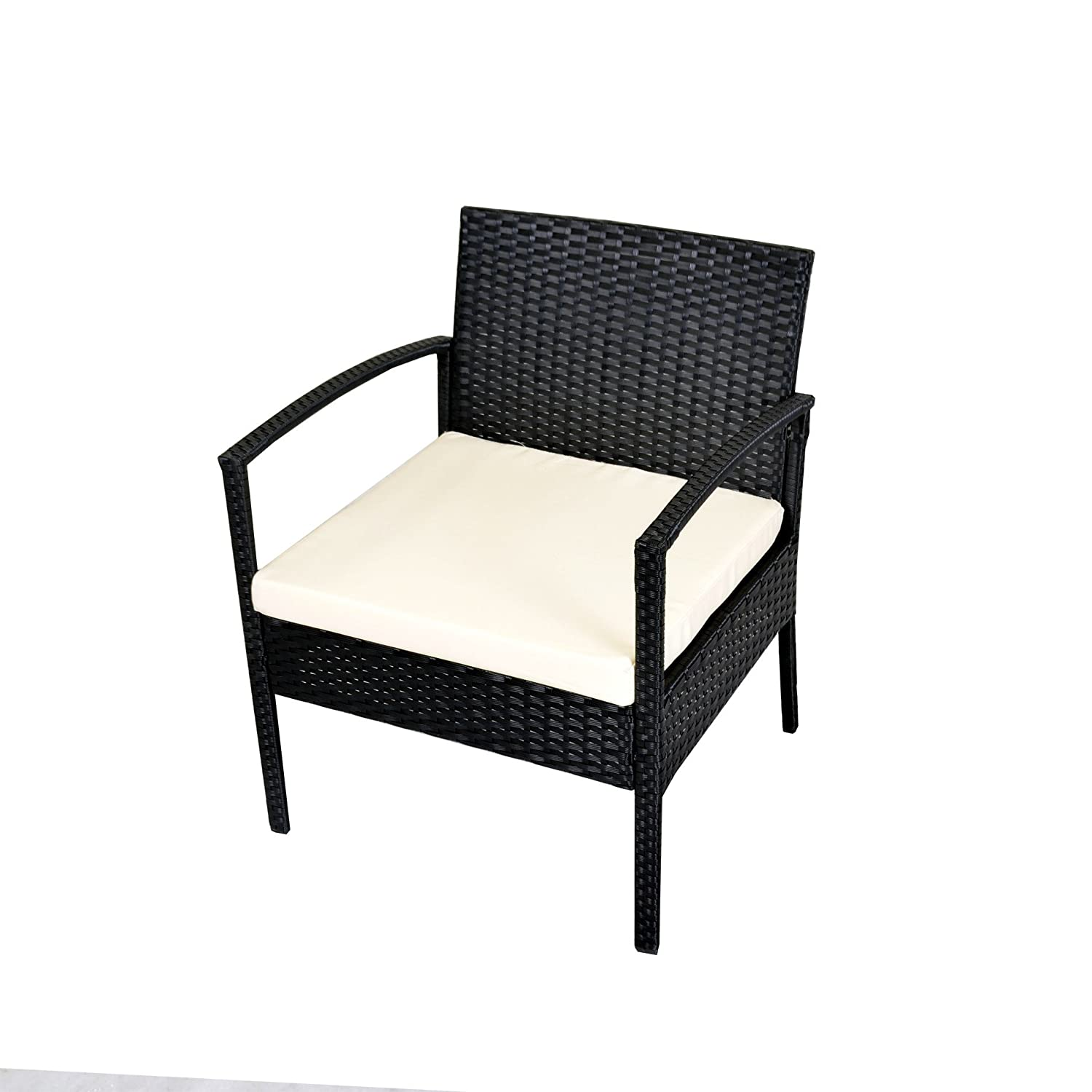 Amazon.com: IDS Home Outdoor Patio Garden 3-Piece Black Rattan ...