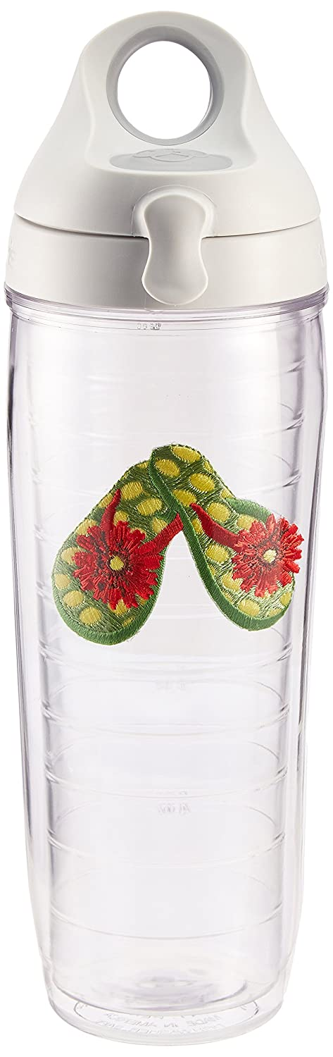 TERVIS Water Bottle, Grün Flip Flop with Flower by Tervis