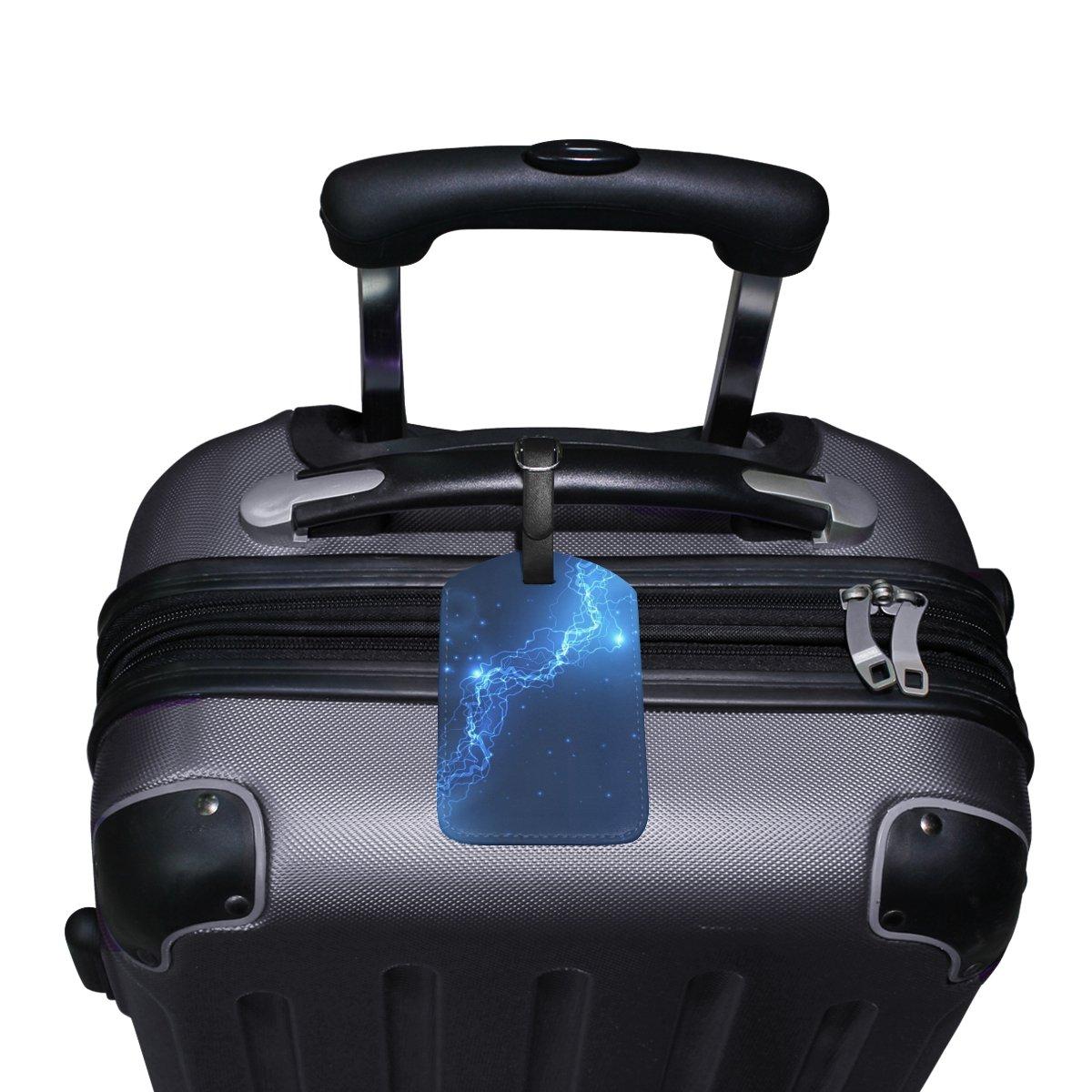 Saobao Travel Luggage Tag Magic Of Light PU Leather Baggage Suitcase Travel ID Bag Tag 1Pcs