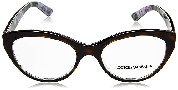 Dolce & Gabbana Dg3246 3151 Cal.53 Occhiale Da Vista Havana Eyeglasses Sehbrille mVeosJP