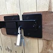 Adjustable Flip Latch for Double Gates (Black Finish)